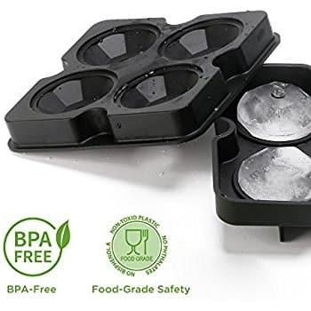 (2pack) Silicone Diamond Ice Cube tray W/Lid BPA-FREE $7