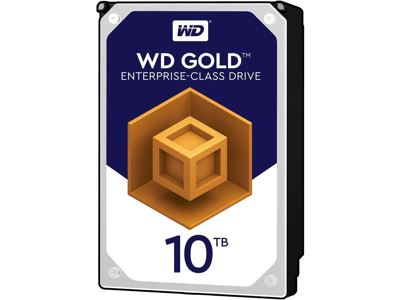 Newegg: 10TB Western digital Gold Hard Drive $329.99