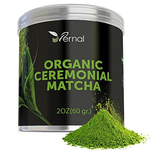 Organic Ceremonial Matcha Green Tea [Sale $14.99 ($7.50/oz)]