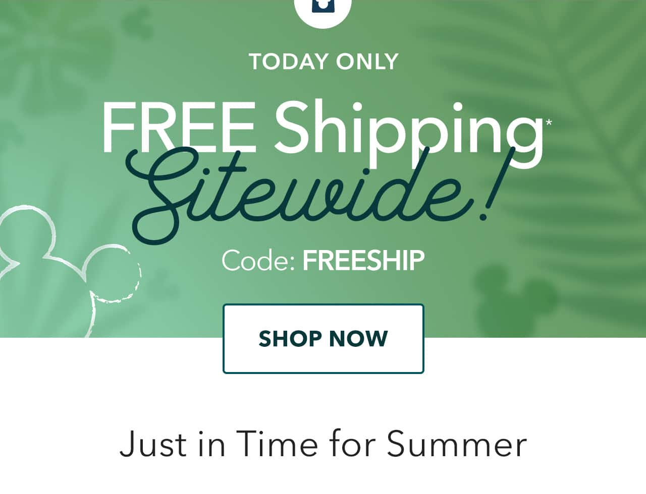 Free Shipping Sitewide & $16 Mickey Mouse Tropical Picnic Blanket with Any Purchase
