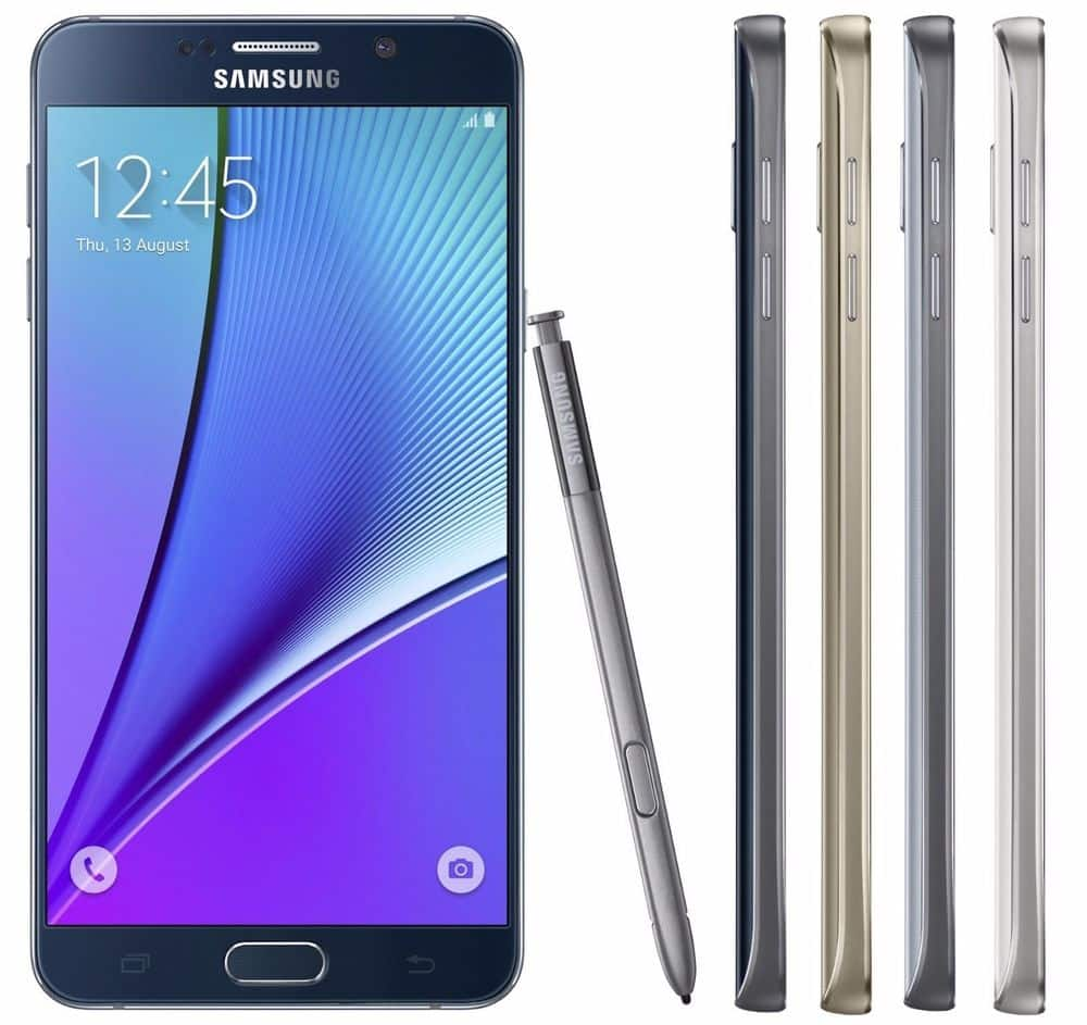 Refurb Unlocked Galaxy Note 5 32GB Phone for $214 + free shipping on Bay $213.97