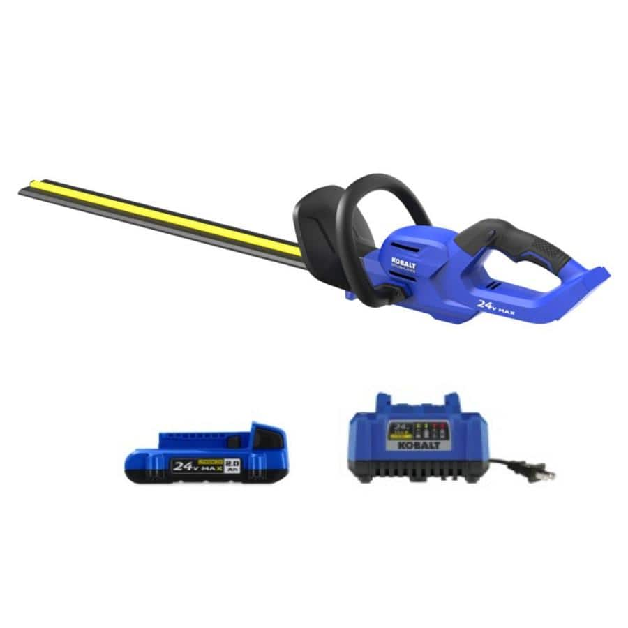 Kobalt 24-Volt Max 24-in Dual Cordless Electric Hedge Trimmer (Battery Included) $99