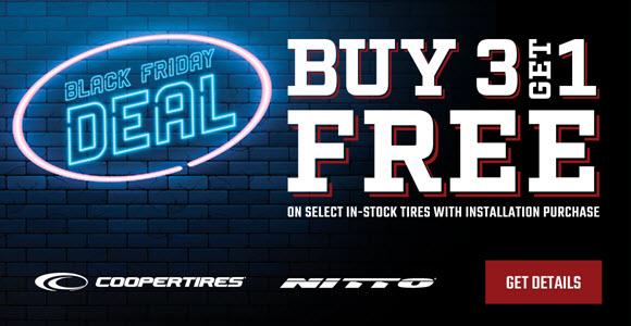 Buy 3 Get 1 Tires at Big O