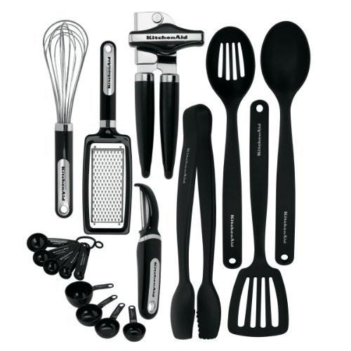 KitchenAid 17-Piece Tools and Gadget Set, Black [Black, 17-Piece Set] $28.34