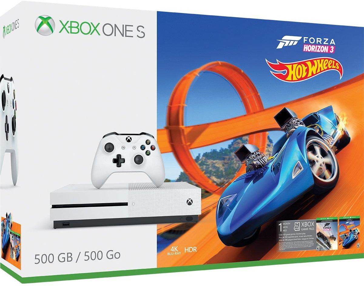Xbox One S 500GB Console - Forza Horizon 3 Hot Wheels Bundle Amazon Used $164.88