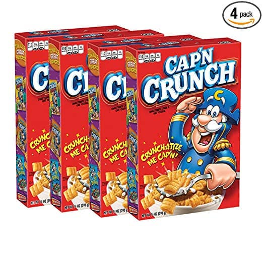Cap'N Crunch Cereal, 14oz Boxes, 4 Count $7.31 w/ 5% S&S or $6.54 w/ 15% S&S