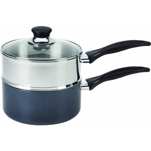 T-fal B13996 Specialty Stainless Steel Double Boiler with Phenolic Handle Cookware, 3-Quart, Silver [Nonstick] $19.18@amazon
