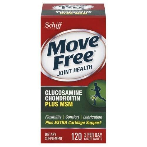 Move Free Advanced Plus MSM, 120 tablets $13.29@amazon
