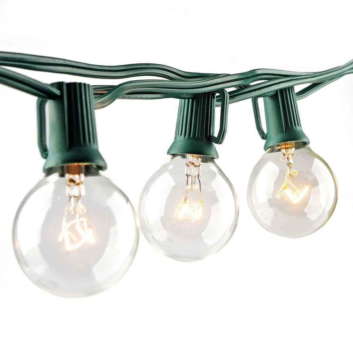 25' Outdoor String Light with G40 Clear Globe Bulbs $9.47 @Amazon