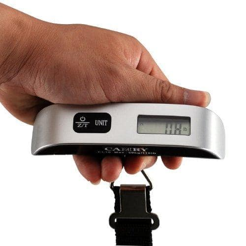 Camry 110 Lbs Luggage Scale with Temperature Sensor and Tare Function for $4.99 @Amazon