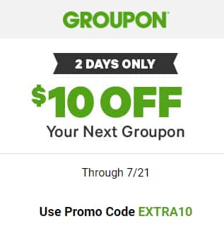 Groupon $10 Off Valid on 1 unit (min. price $11) - Targeted email offer