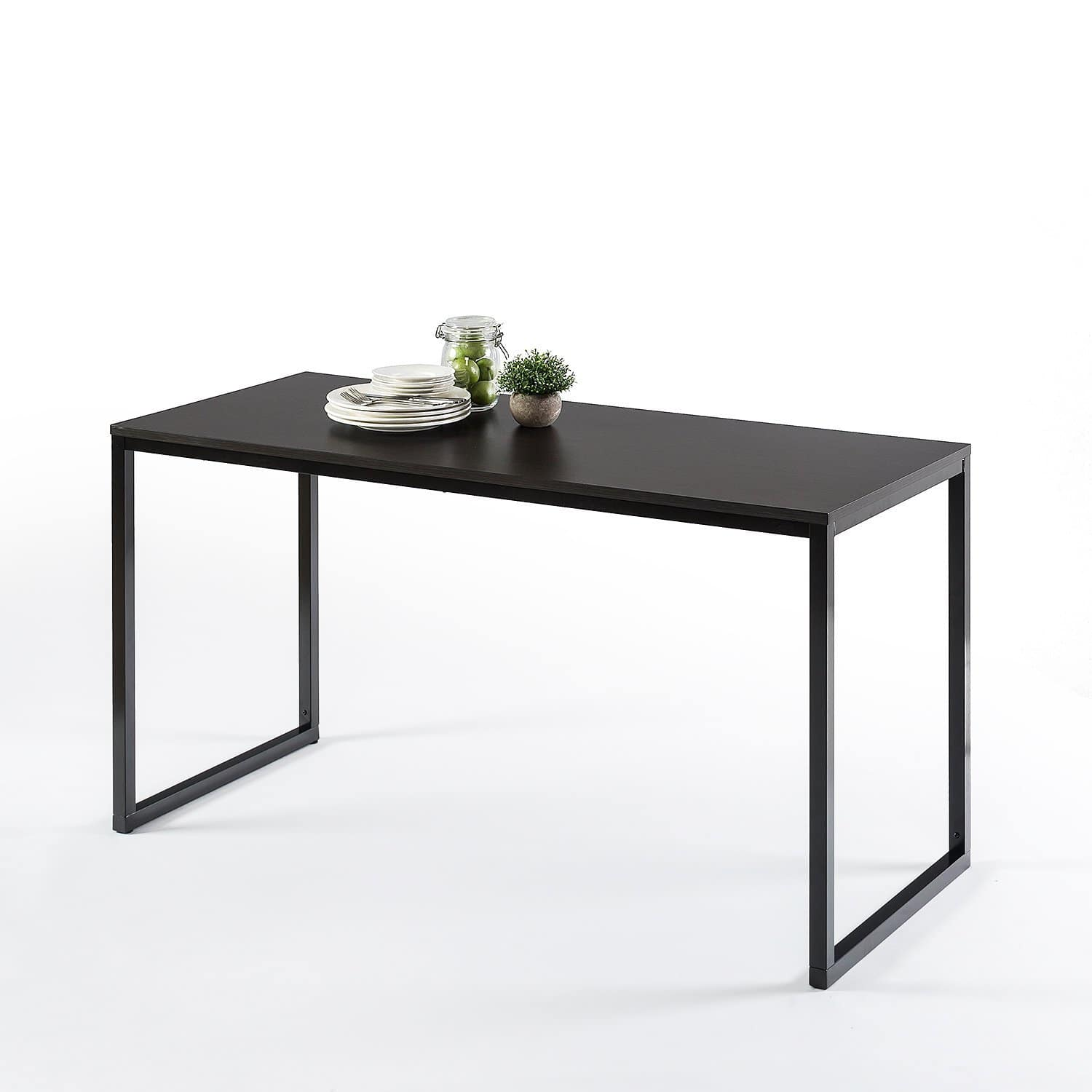 Zinus Jennifer Modern Studio Collection Soho Rectangular Dining Table / Table Only / Office Desk / Computer Table, Espresso $60