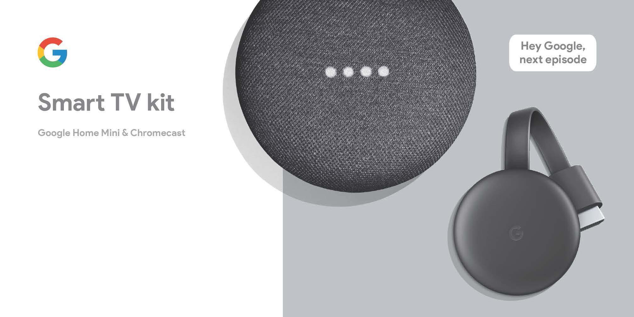 Walmart in store YMMV Google smart TV kit.(Home Mini & Chromecast) $13