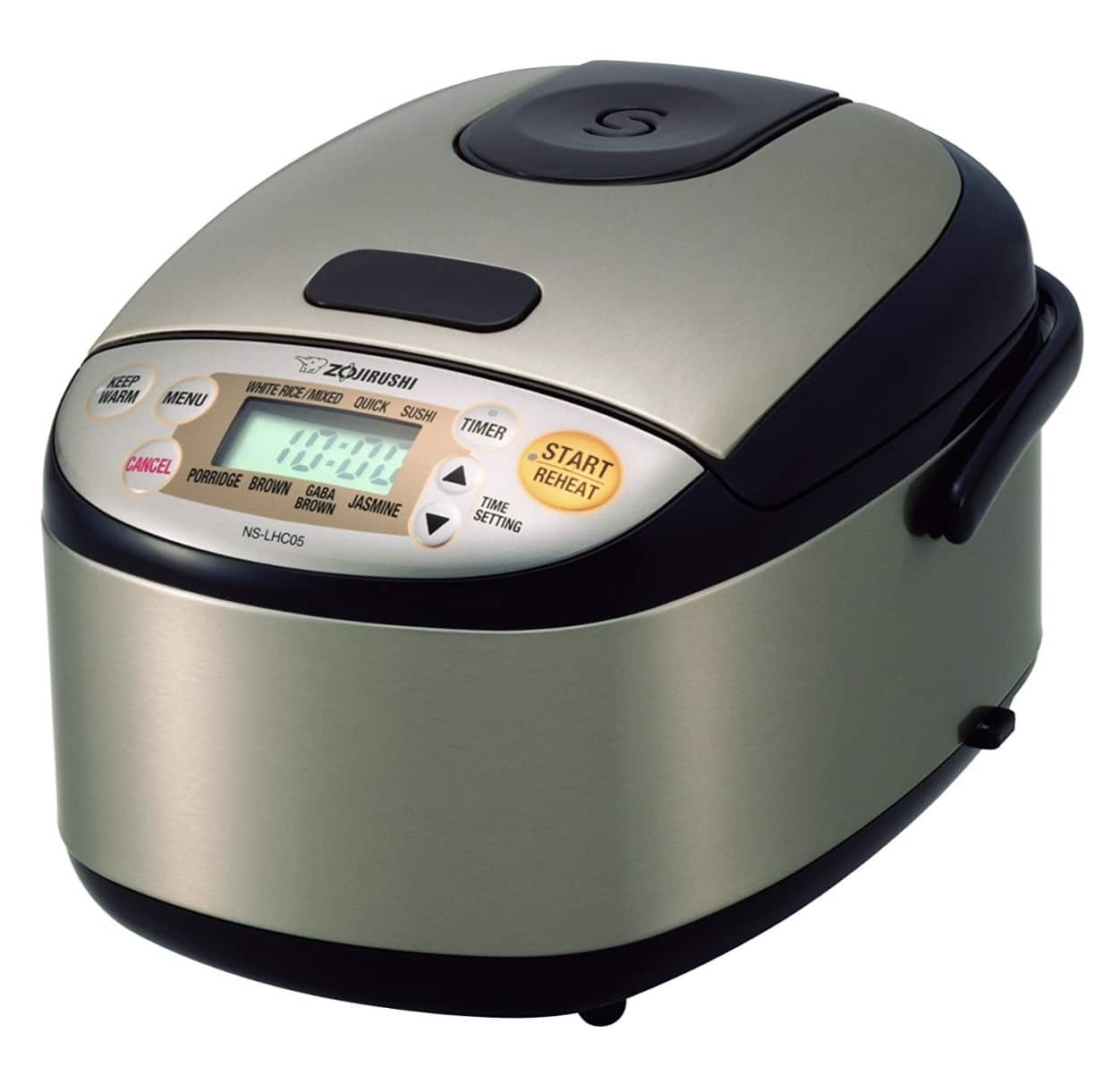 $105.38 Zojirushi NS-LHC05XT Micom Rice Cooker & Warmer, Stainless Dark Brown
