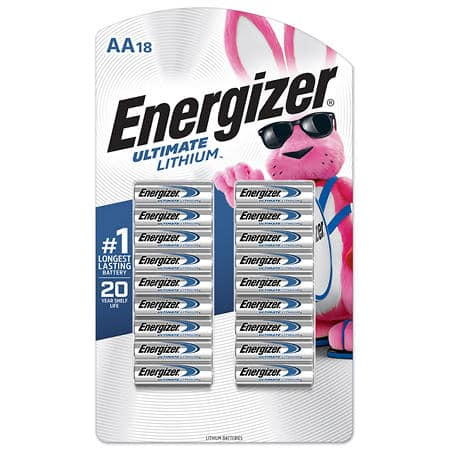 Energizer Ultimate Lithium L91 AA Batteries 20 pack for $7.00 at Costco - YMMV B&M