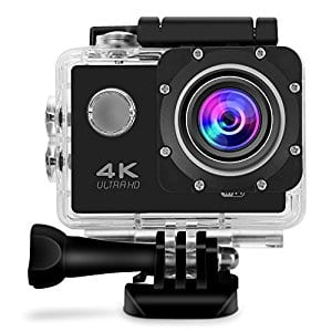 GBB WiFi Sport Action Camera 4K HD 12MP Waterproof Action Cam 2 Inch LCD Screen 170 Ultra Wide Angle 2 Rechargeable Batteries with Full Accessories Kits $23.97