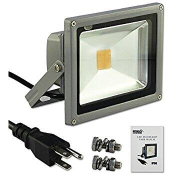 Escolite 30W Waterproof LED Flood Light with Screw Kit US 3-Plug - $22.85 @Amazon