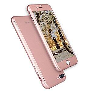 iPhone 7 Plus Case, AnsTOP Full Body Case Coverage Protective iPhone Hard Case with Tempered Glass Screen Protector for $7.49 @Amazon
