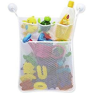 Bath Toy Organizer, Outgeek Kids Bath Toy Hanging Storage Net with 4 Compartments $4.99 @Amazon