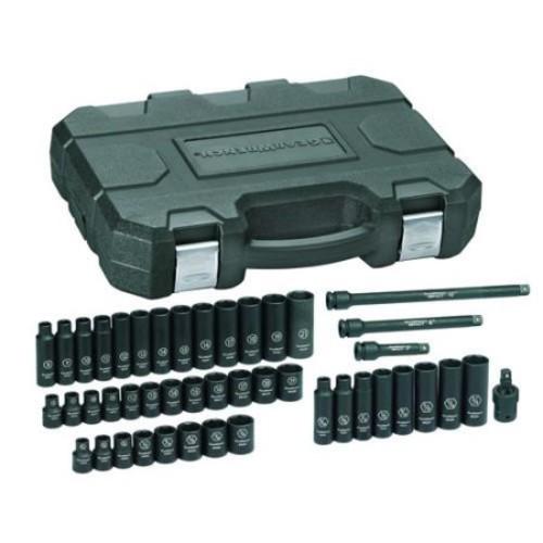GearWrench 44-Piece Std/Deep Impact Socket Set SAE/Metric 3/8 in. Drive $59.78
