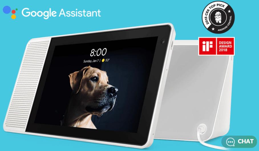 "Lenovo  Lenovo 8"" Smart Display w/ Google Assistant  $89  free shipping"