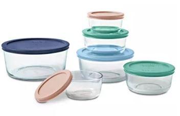 Macy's  Pyrex 12-Piece Round Food Storage Set  $15