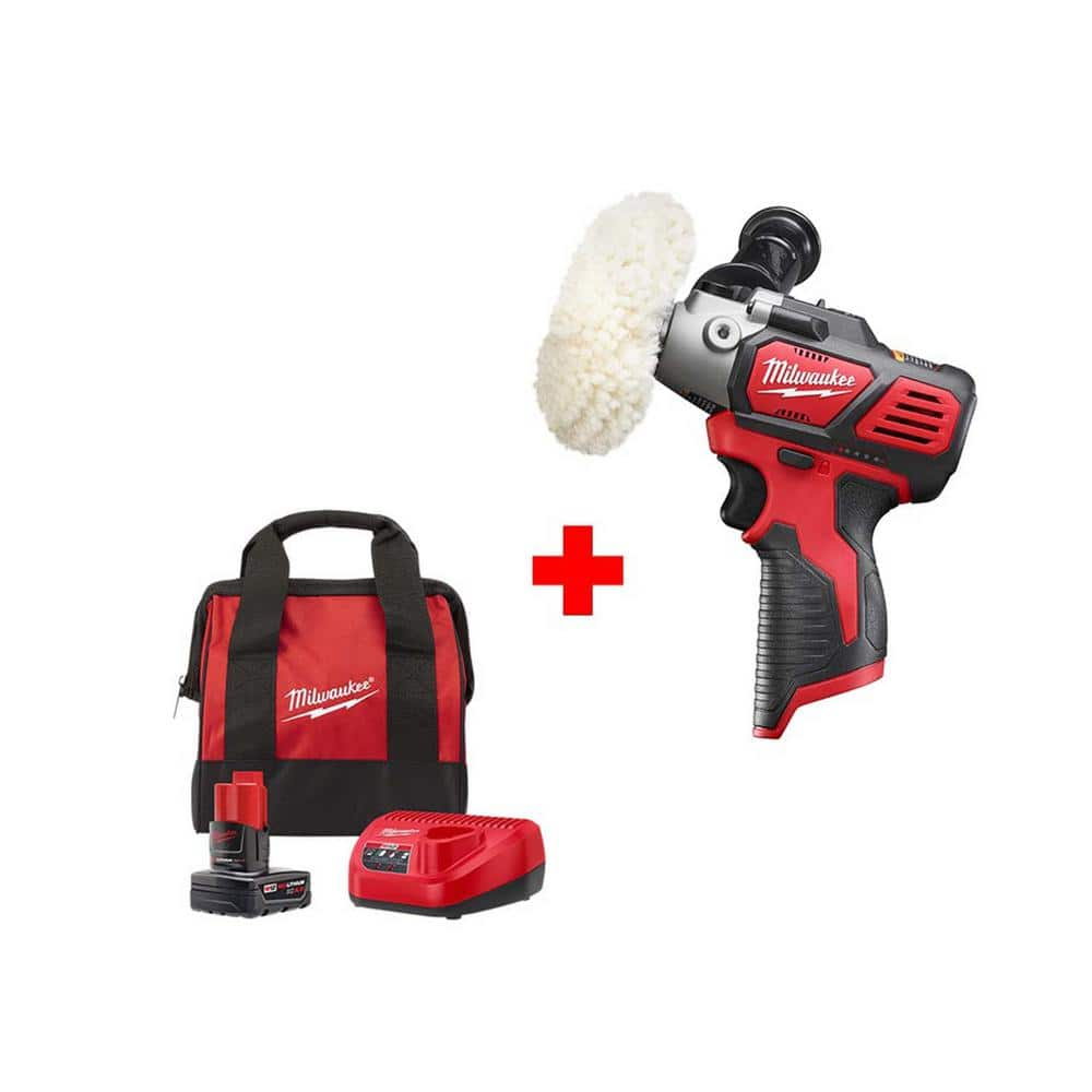 M12 3 in. Variable Speed Polisher/Sander (2438-20) with One 4.0 Ah Battery, Charger and Bag $129 + Free Shipping