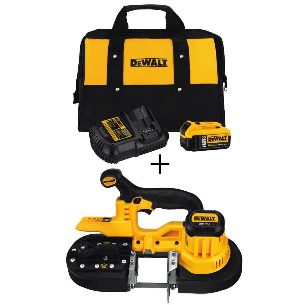 20-Volt MAX  Band Saw with Bonus 20-Volt 5.0 Ah Battery Pack and Charger $179.00 + Free shipping