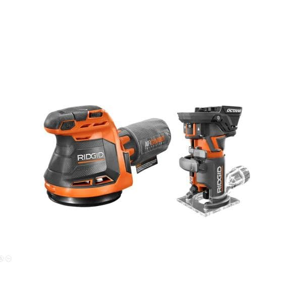 Home Depot: RIDGID 18-Volt OCTANE Cordless Brushless Compact Fixed Base Router and Random Orbital Sander $119 + Free Shipping