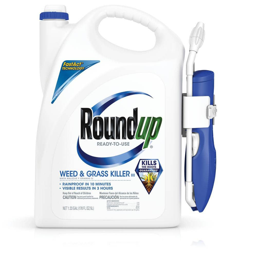 RoundUp 5200210 Ready-To-Use Weed & Grass Killer III with Comfort Wand, 1.33 GAL YMMV