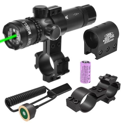 CVLIFE Green Gun Sight Laser 532nm Green Rifle Sight with 2 Mounts and 2 Pressure Switches - $15.76 @Amazon