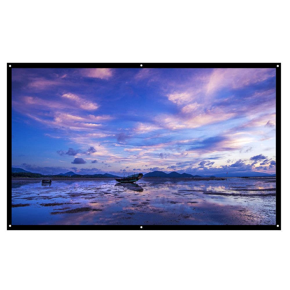 100'' 16:9 Portable Foldable Projector Screen HD Home Theater Outdoor 3D Movies $12.25