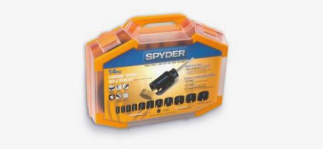 Spyder 14-Piece Carbide-tipped Arbored Hole Saw Set $89.99