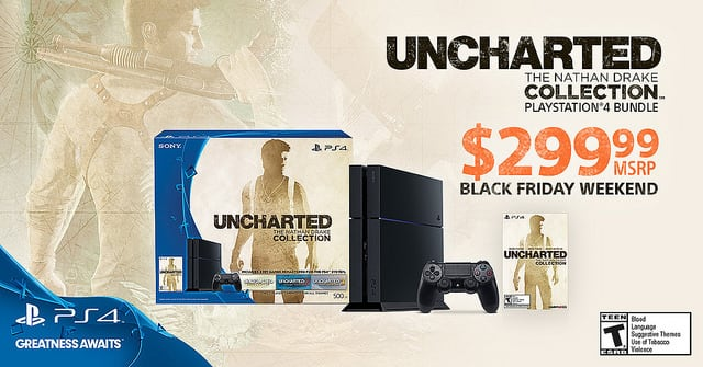 Sony drops ps4 msrp to 299 for 500GBP Nathan Drake bundle EVERYWHERE 11/27-11/30