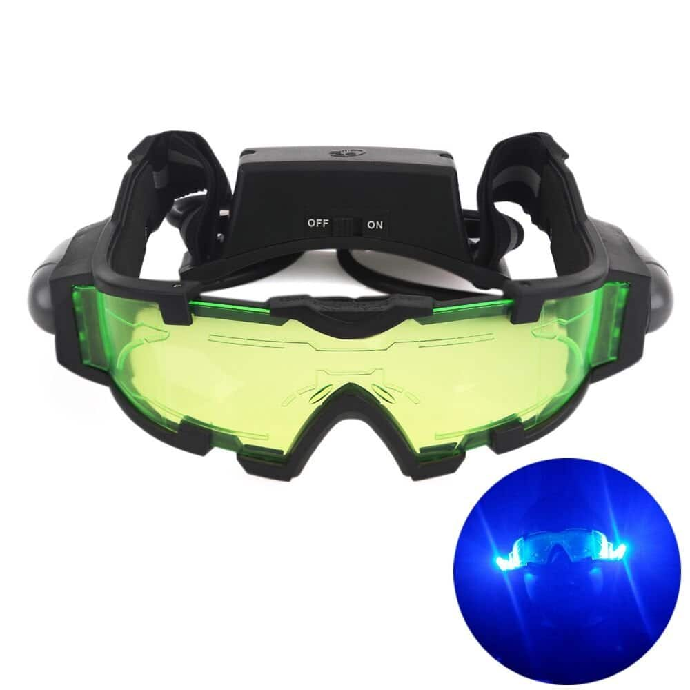 AGM Adjustable Night Vision 25 Feet Goggles with Flip-out Lights Green Lens $8.96