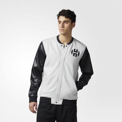 adidas Harden Varsity Jacket Men's Grey $36+Free SH