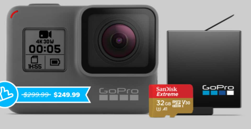GoPro Hero 5 w/free 32GB memory card, spare battery  + free shipping & returns. $199.99