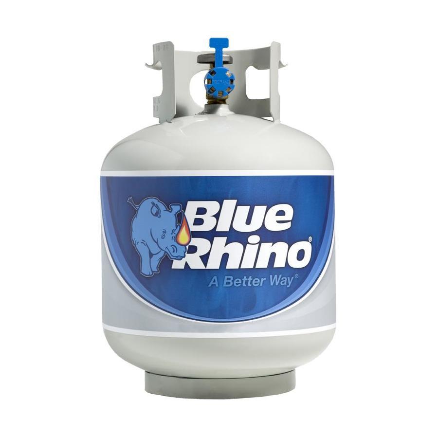 Blue Rhino 15 lb. propane tank exchange $15 at Lowes