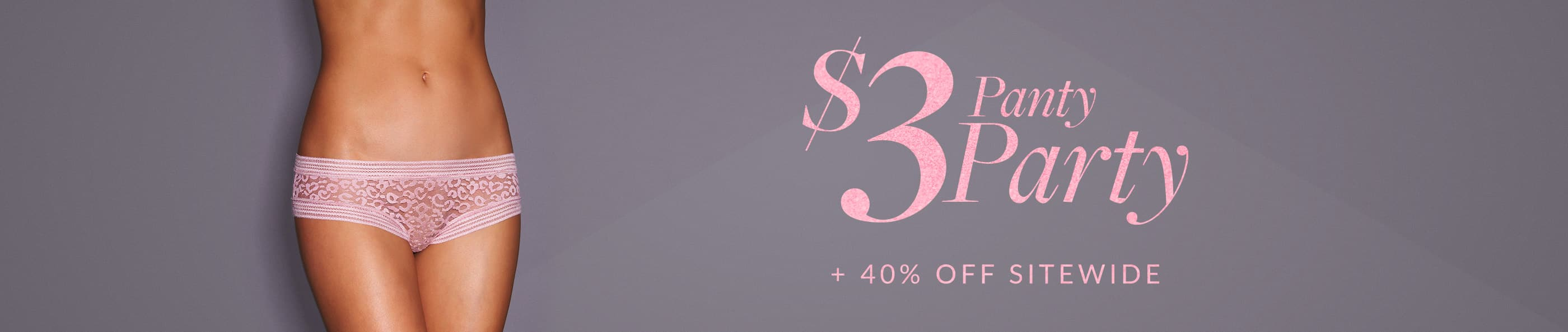 Fredericks of Hollywood : $3 Panty Sale + 40% off sitewide (no code needed) FS Orders $75+