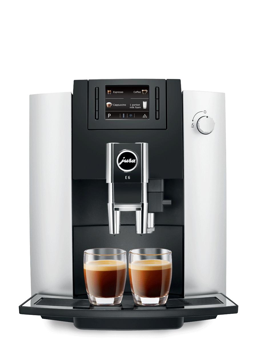 Jura E6 Coffee Machine - Factory Refurbished- Platinum color $799