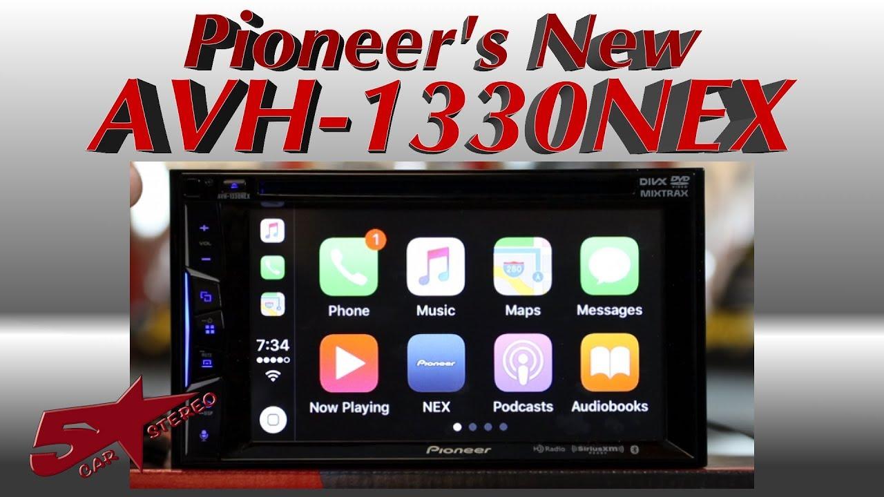 "Pioneer AVH-1330NEX 6.2"" Apple CarPlay Bluetooth CD/DVD/DM TouchScreen In-Dash Receiver & Geek Squad Installation $275 AR @ Best Buy"