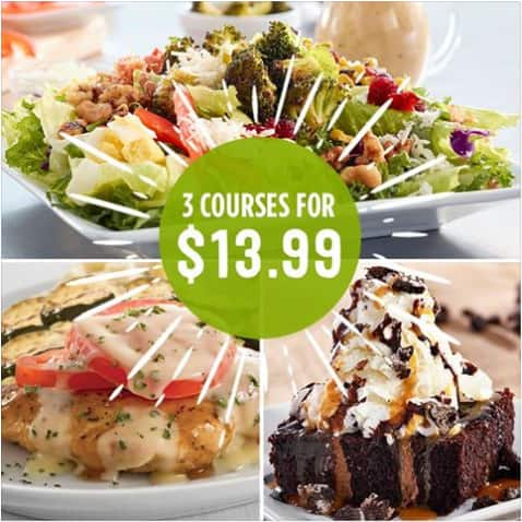 Ruby Tuesday 3 Course Meal for $13.99
