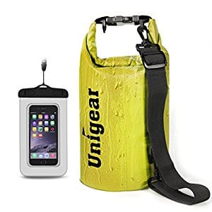 unigear dry bag with extra waterproof phone case for $5.99 AC @Amazon