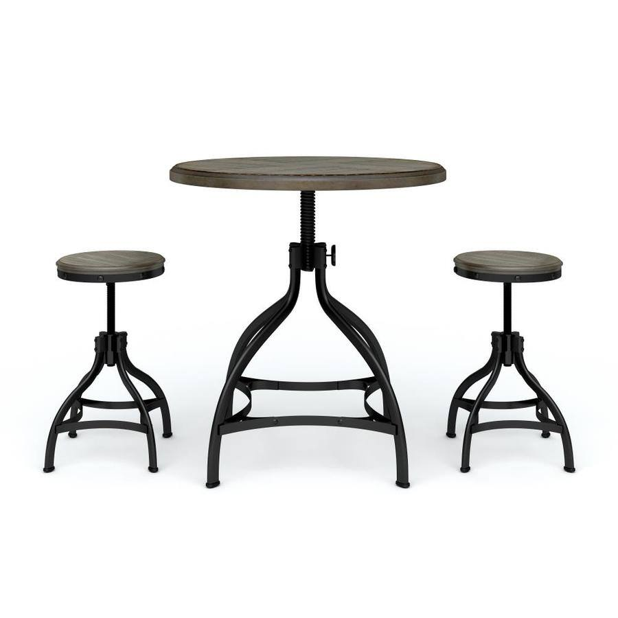 Amazing Select Lowes Stores Whalen Dining Set W Round Table 2X Stools Expired Machost Co Dining Chair Design Ideas Machostcouk
