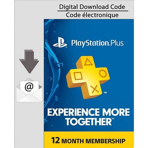 Playstation PS Plus 12 Month Subscription [Email Code] Toysrus$38.00