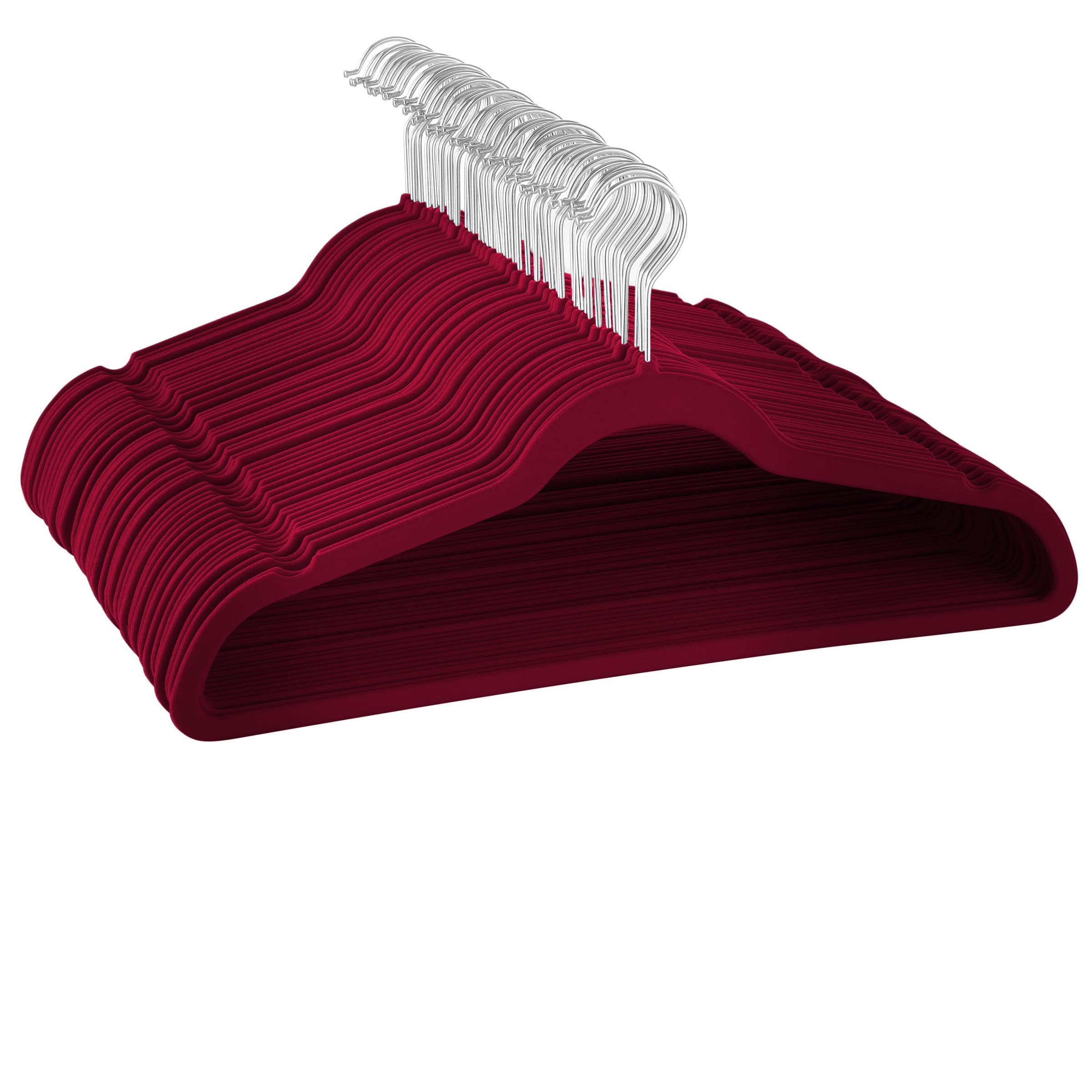 50 Pack Red / Burgundy Velvet Suit and Clothes Hangers For Just $9.67