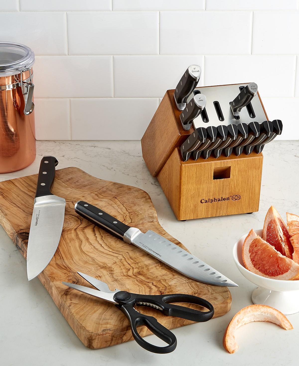 Calphalon Classic SharpIN Self Sharpening 15-Piece Cutlery Set $115 Shipped