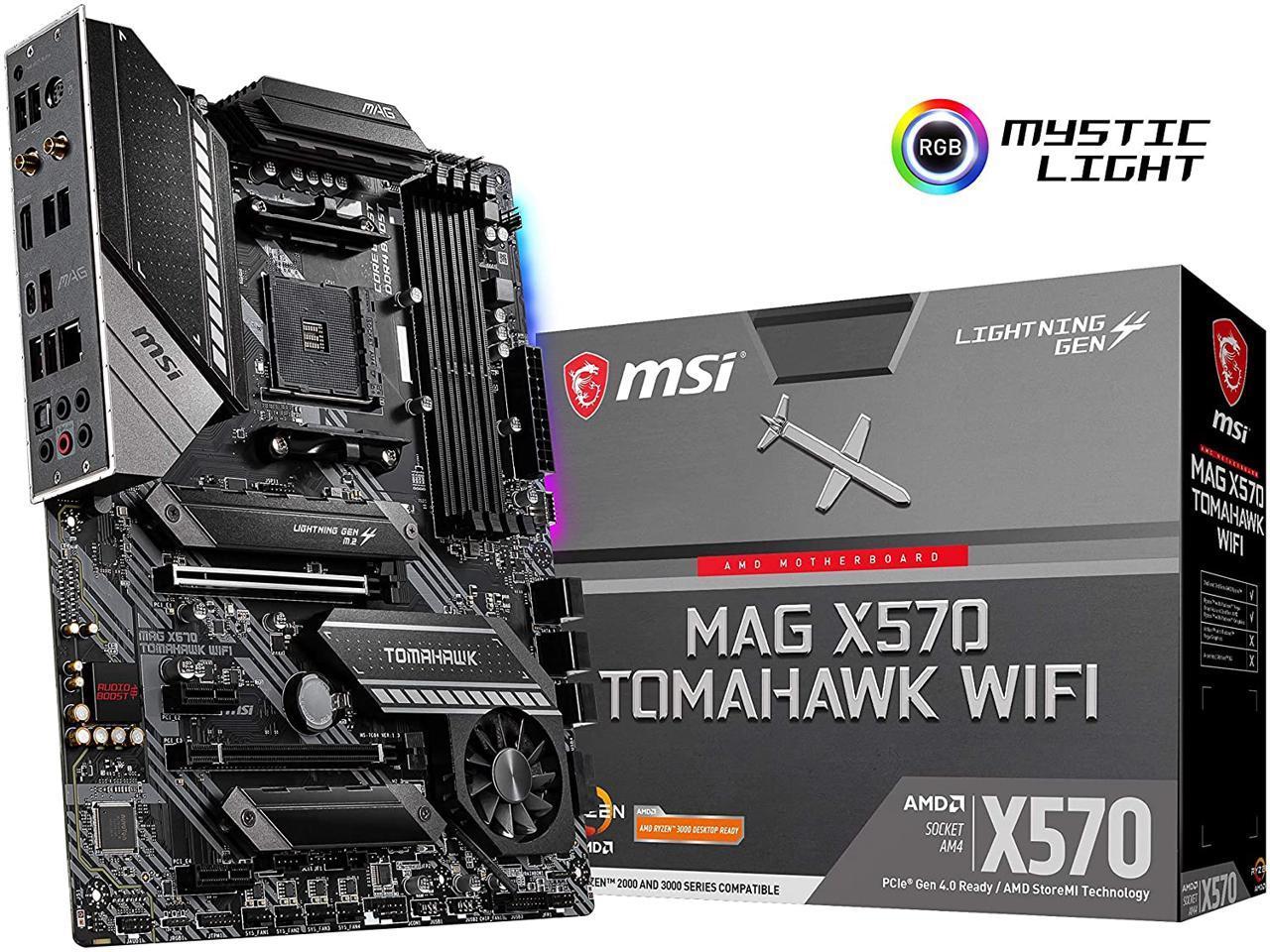 MSI MAG X570 TOMAHAWK WIFI AM4 AMD X570 at newegg - free shipping $219.99