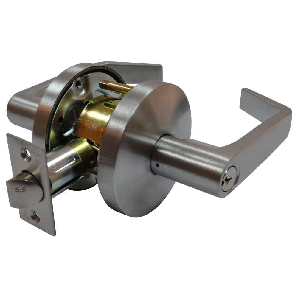 Arctek 2-3/4 in. Satin Chrome Cylindrical Calypso Keyed Entry Door Lever with Latch $8.62