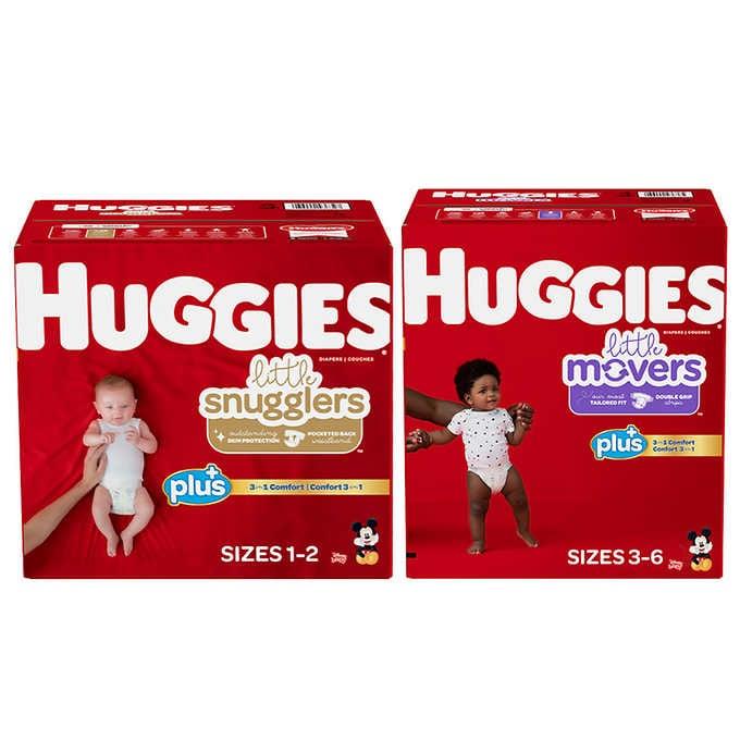 Costco: Huggies Sizes 1-6 $9 discount, Free Shipping